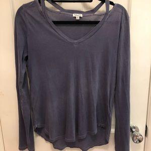 Long sleeve purple top